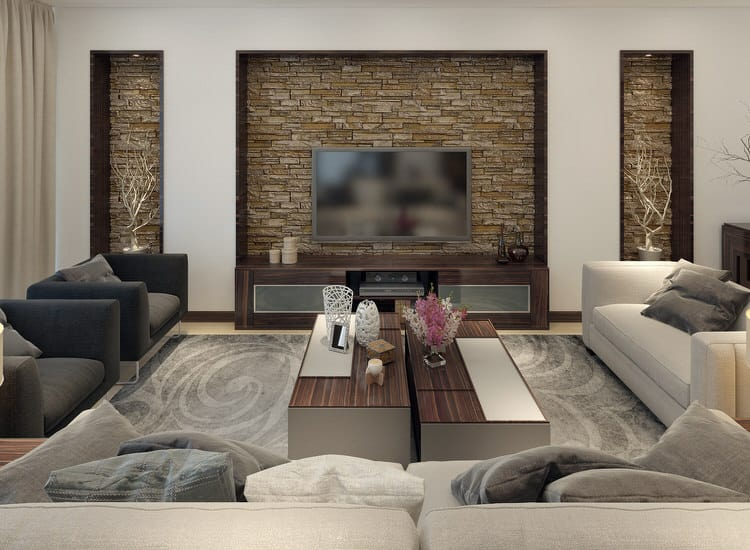 stone wall living room 30 gorgeous living rooms with walls pictures 13712